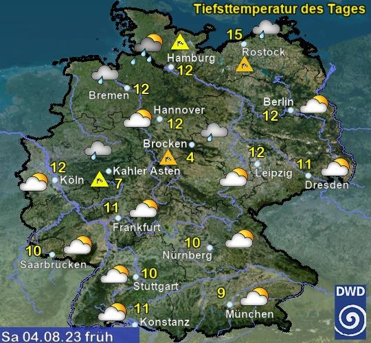 Deutscher Wetterdienst Vorhersage 10 Tage